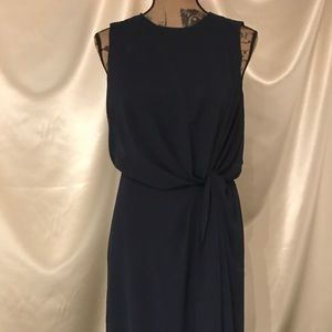 ASOS Navy Blue Flowy Formal Cocktail Dress Sz 4